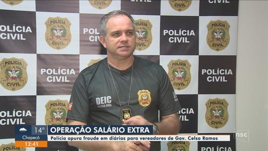 Polícia cumpre mandados e investiga suspeita de fraude em diárias pagas na Câmara de Governador Celso Ramos