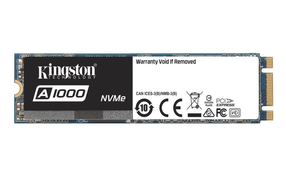 SSD A1000 conta com padrão PCIe e protocolo NVMe (Foto: Divulgação/Kingston)