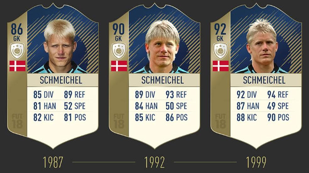 FIFA 18: confira as três cartas de Schmeichel (Foto: Divulgação / EA)