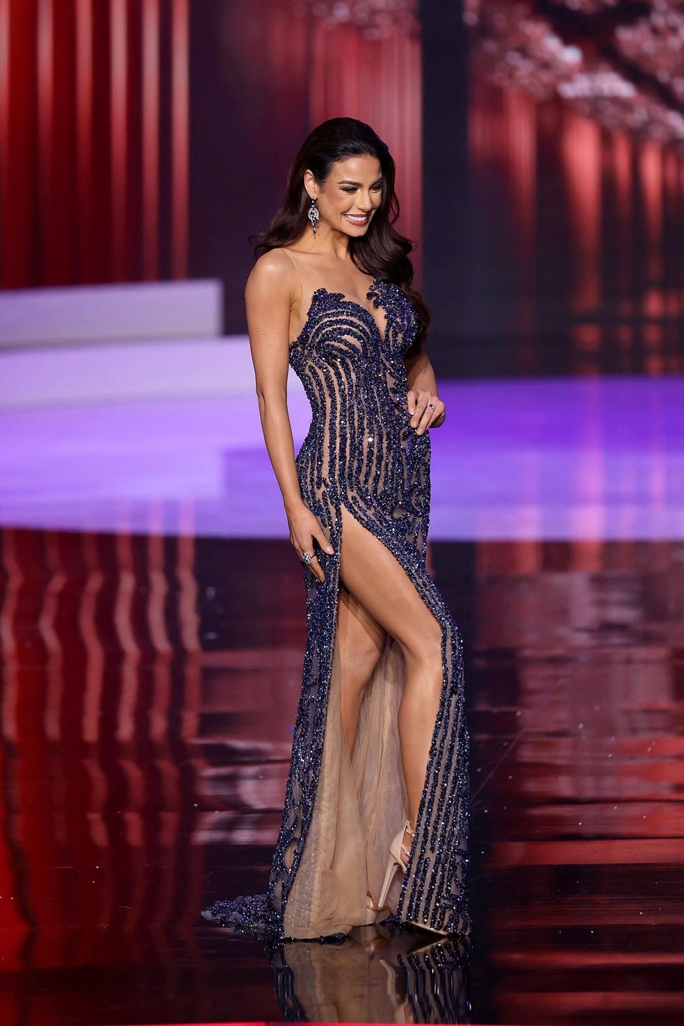 A Miss Brasil Julia Gama, que ficou em segundo lugar no Miss Universo — Foto: Rodrigo Varela / GETTY IMAGES NORTH AMERICA / Getty Images via AFP