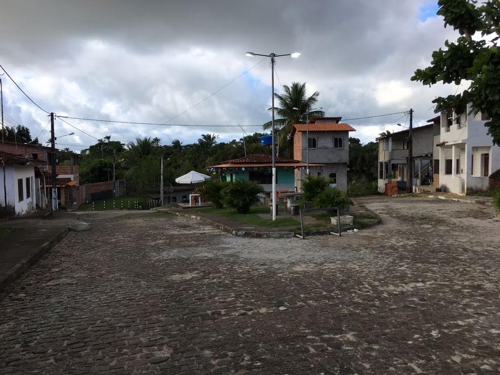 Vila de Matarandiba, na Bahia — Foto: Alan Oliveira/G1