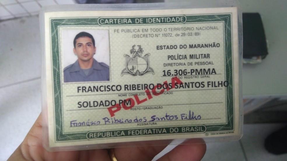Policial militar do Maranhão Francisco Ribeiro dos Santos Filho — Foto: Divulgação/PM