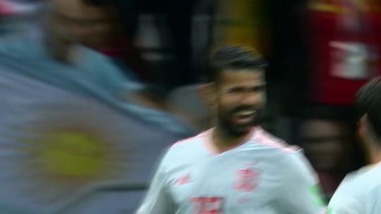 """Com """"sorte"""", Diego Costa destaca paciência espanhola para furar retranca do Irã"""