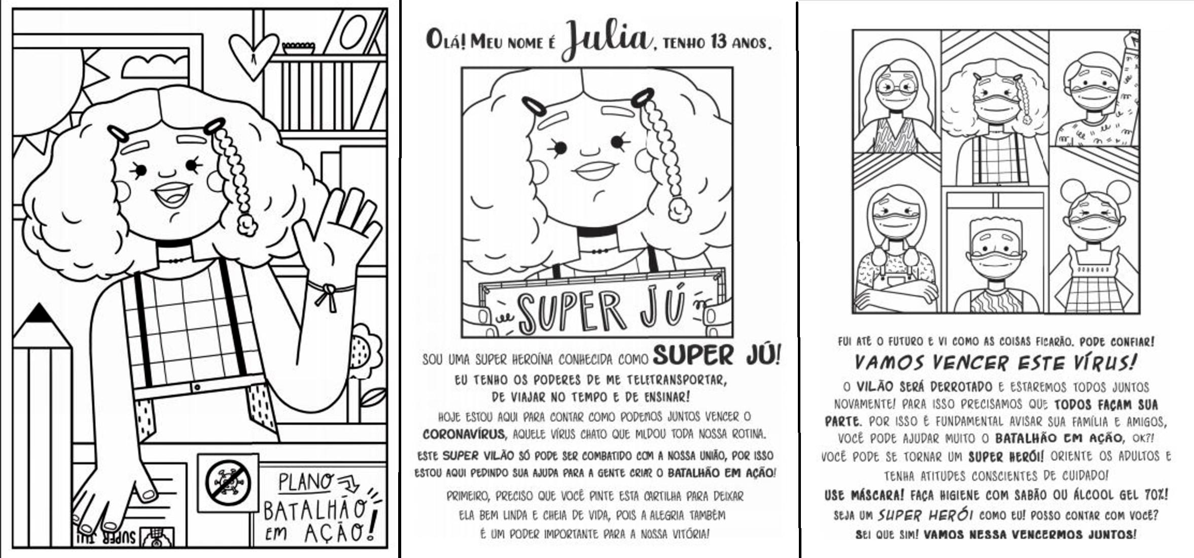 Grupo cria cartilha de colorir para crianças com dicas sobre prevenção à Covid-19