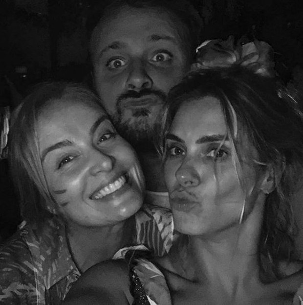 Angélica, Carolina Dieckmann e Léo Fuchs (Foto: Reprodução/Instagram)