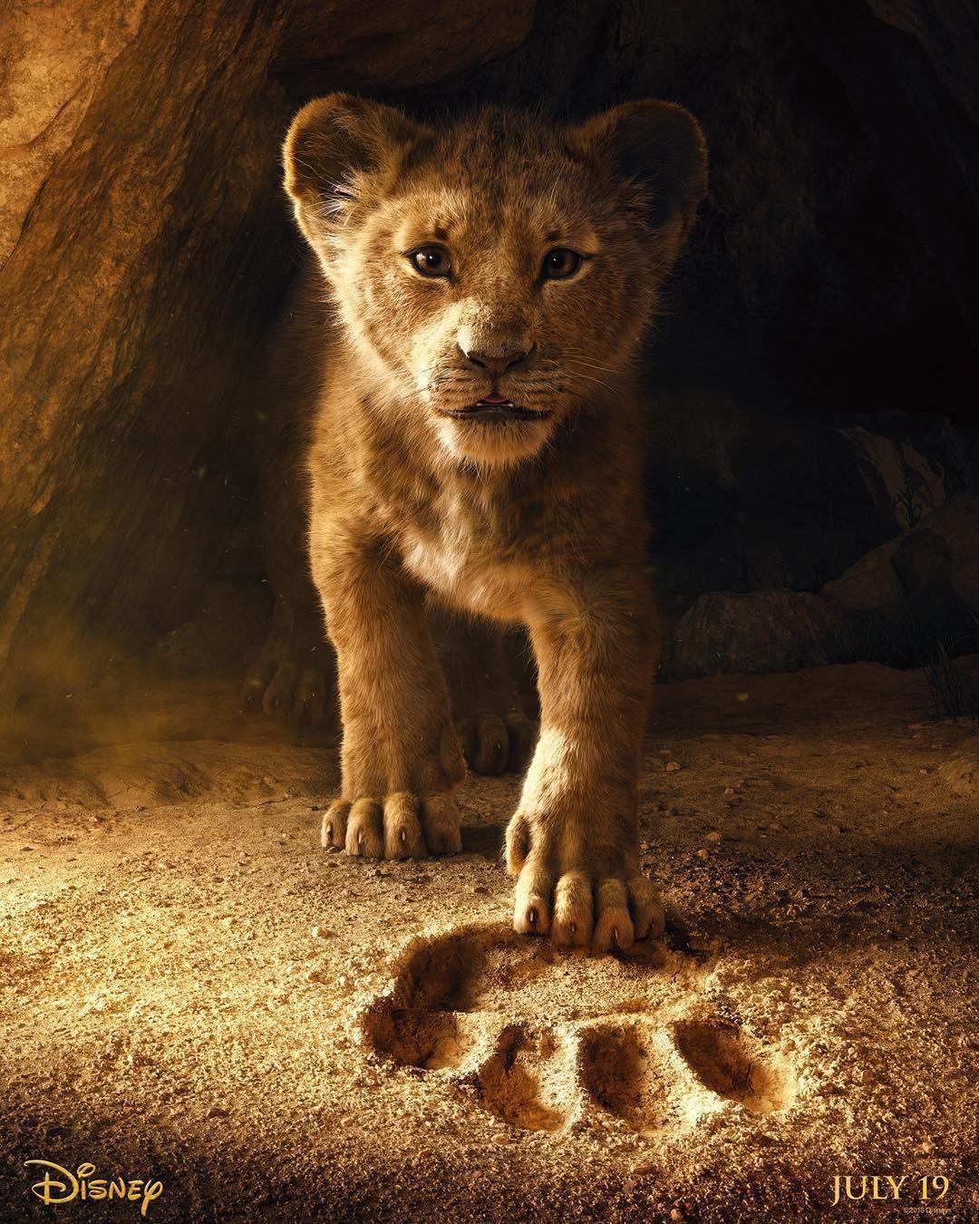 Simba na versão live action de O Rei Leão (Foto: Reprodução / Instagram)