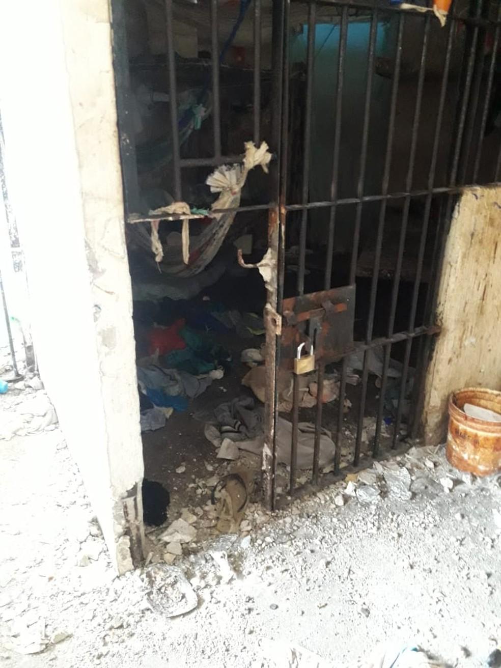 Presos depredam celas em protesto na unidade prisional de Tomé-Açu. — Foto: Divulgação / Susipe