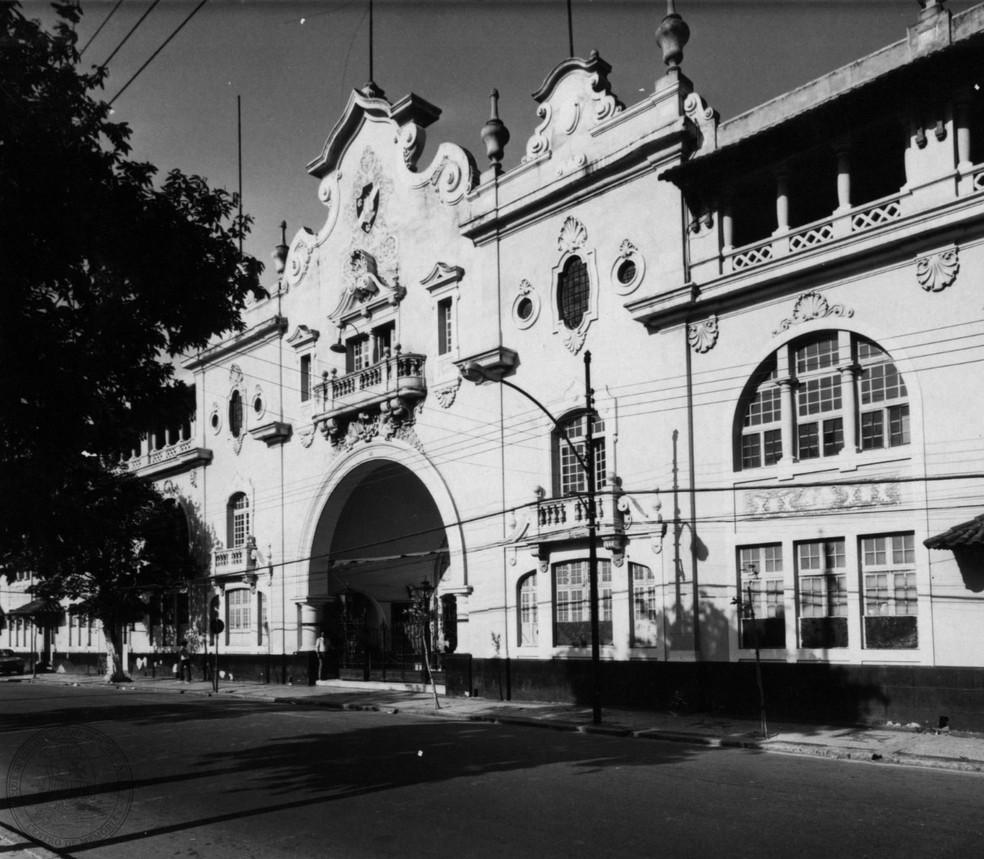 Confira uma foto antiga da bela fachada de São Januário — Foto: CPAD-CRVG