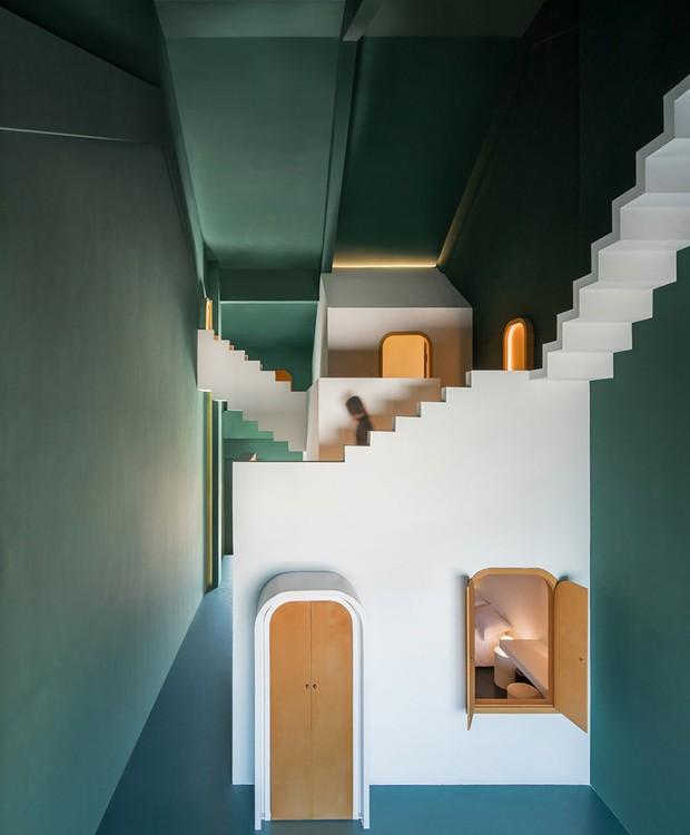 Hotel da China tem quartos inspirados em M.C. Escher (Foto: Chao Zhang/Designboom/Reprodução)