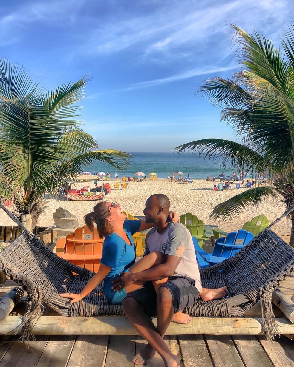 Última foto do casal publicada nas redes da apresentadora  — Foto: Reprodução/Instagram