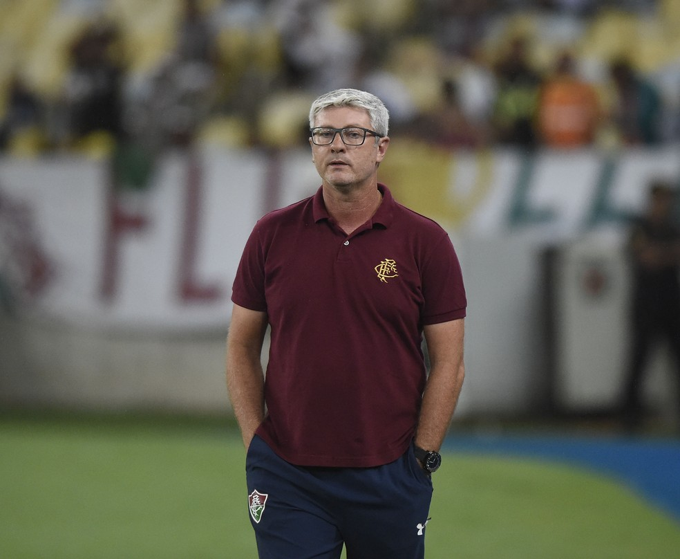 Odair Hellmann, técnico do Fluminense — Foto: André Durão