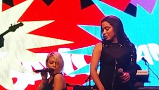 Nikki é chamada repentinamente para cantar 'Bang' com Anitta e comemora: 'Amei'