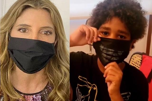Maria Padilha e o filho, Manoel (Foto: Reprodução)