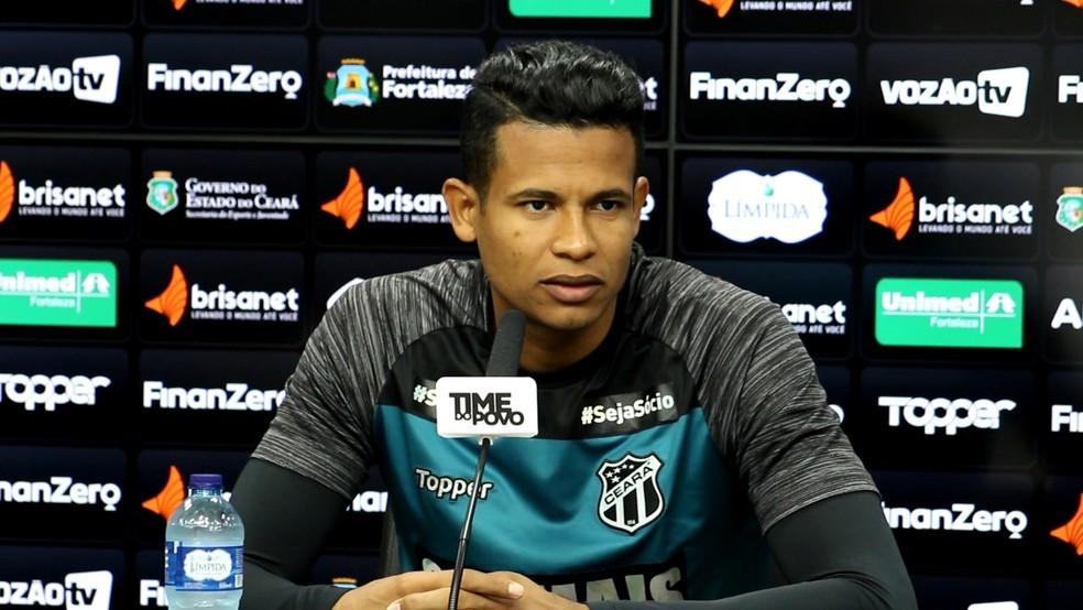 Diogo Silva estava no Ceará — Foto: Garibaldi Soares