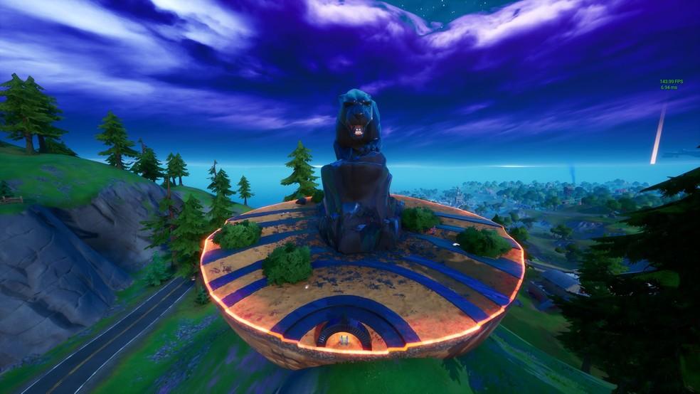 Monumento de Pantera Negra chegou nesta terça-feira no Fortnite — Foto: Reprodução/Twitter