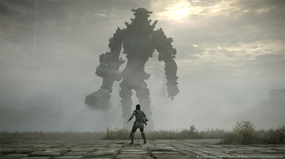 Shadow of the Colossus coloca o jogador contra gigantescas criaturas neste clássico remake do PlayStation 2 para o PS4 — Foto: Reprodução/PlayStation Store