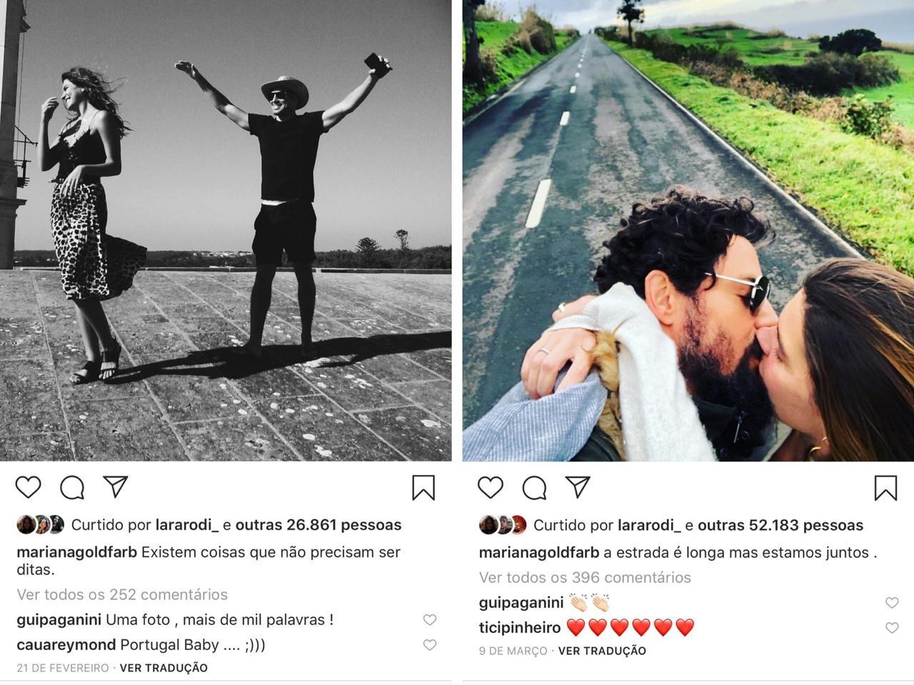 Posts de Mari Goldfarb em viagem romântica após o casamento civil (Foto: reprodução/Instagram)