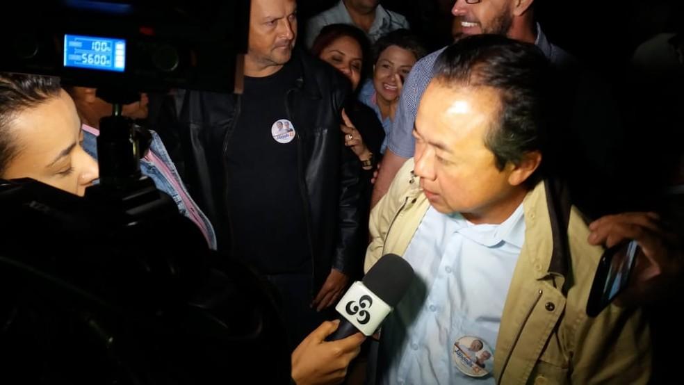 Eduardo Japonês fala após vitória nas urnas (Foto: Renato Barros/Rede Amazônica)