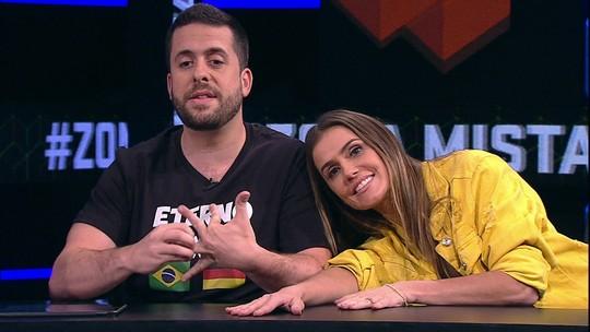 Zona Mista tem Deborah Secco, Médium Carmona, Pornocopa e trote para espanhol