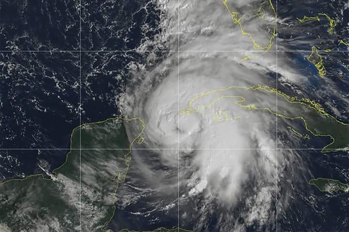 Furacão Michael chegou na Flórida no começo de outubro (Foto: NOAA )