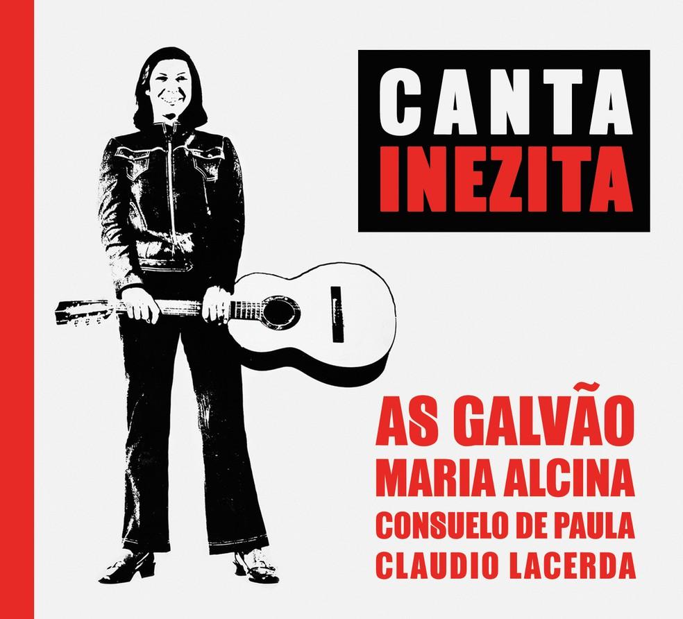 Capa do álbum ao vivo 'Canta Inezita', lançado neste mês de março — Foto: Arte de Rosana Alencar
