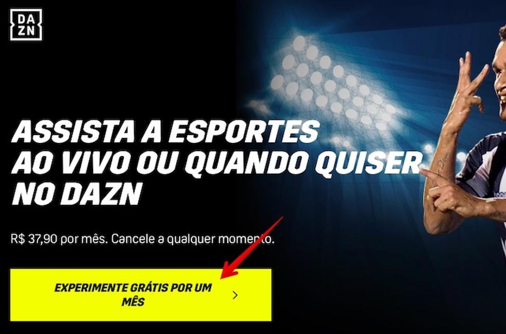 Cadastre-se no Dazn para assistir ao futebol online — Foto: Reprodução/Helito Beggiora
