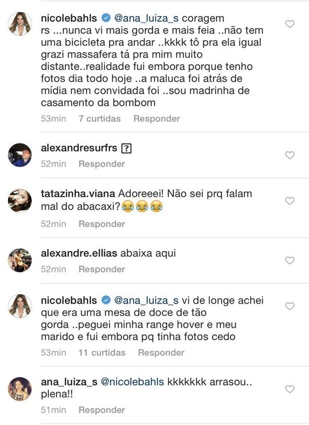 Nicole Bahls e Veridiana Freitas fazem barraco nas redes sociais (Foto: Reprodução/Instagram)