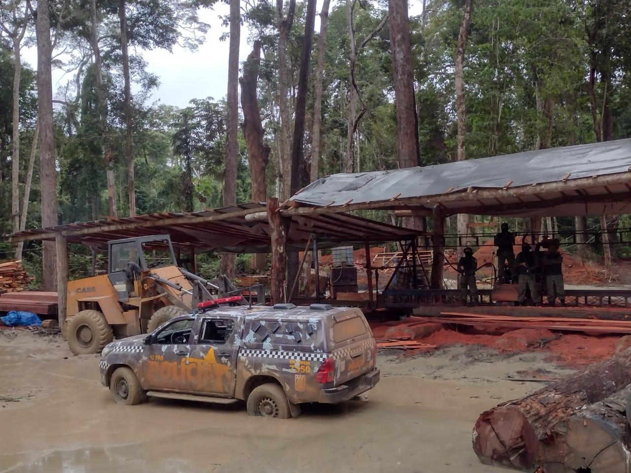 Durante operação, 1ª Cipamb encontra serraria clandestina na região do Chapadão, em Santarém