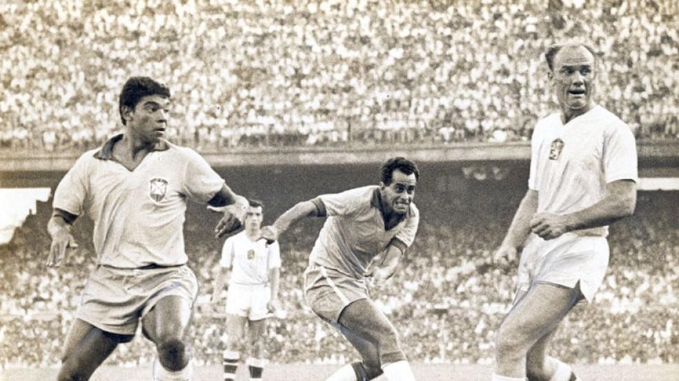 Zito no jogo Brasil x Tchecoslováquia na final da Copa de 1962 (Foto: Gerência de Memória e Acervo da CBF)