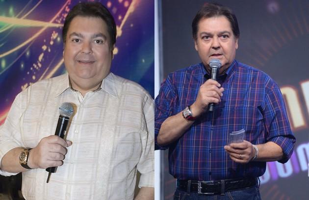 Em 2009, Fausto Silva passou por uma cirurgia bariátrica para resolver problemas de saúde, como pressão alta (Foto: Bob Paulino e Zé Paulo Cardeal/ TV Globo)