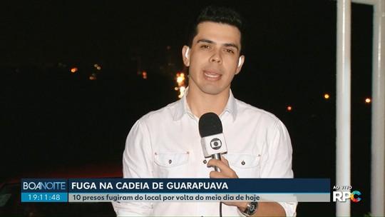 Presos fogem da cadeia de Guarapuava por buraco na parede da cela, diz polícia