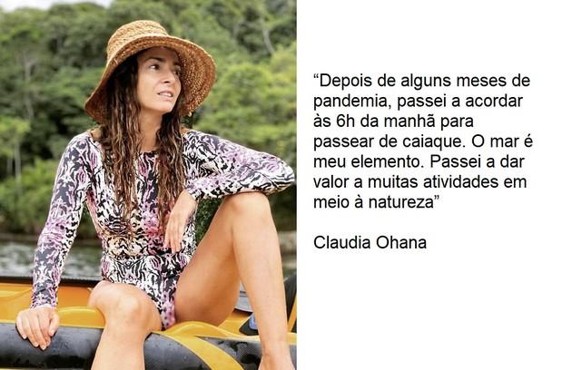 Claudia Ohana se envolveu no esporte (Foto: Reprodução)