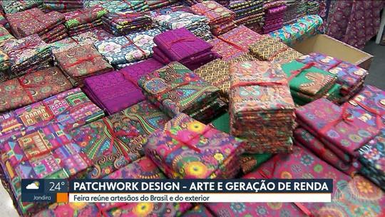 Feira em SP reúne artistas que fazem patchwork