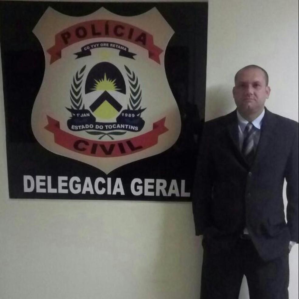 Delegado foi transferido para Palmas após ser baleado (Foto: Divulgação/Polícia Civil)