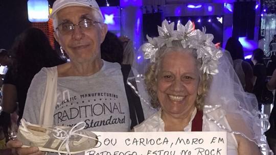 Juntos há 42 anos, casal mostra recordação do primeiro 'Rock in Rio'