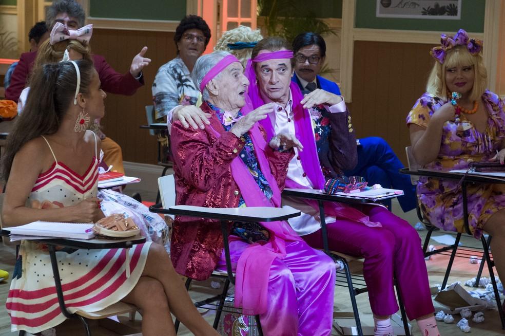 Participação de Orlando Drummond faz parte dos episódios da nova temporada da 'Escolinha' — Foto: Globo/ Estevam Avellar