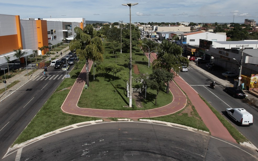 Praça da Família conta com ciclovia em Aparecida de Goiânia, Goiás — Foto: Divulgação/ Prefeitura de Aparecida de Goiânia