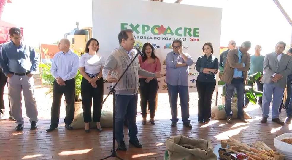 Programação da Expoacre 2018 foi lançada nesta terça-feira (10) (Foto: Reprodução/Rede Amazônica Acre)