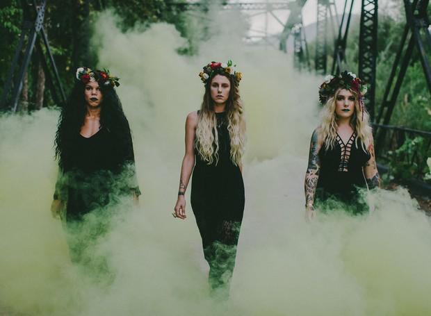 A fumaça dá um ar assombroso ao clique de Halloween (Foto: Pinterest/ Reprodução)