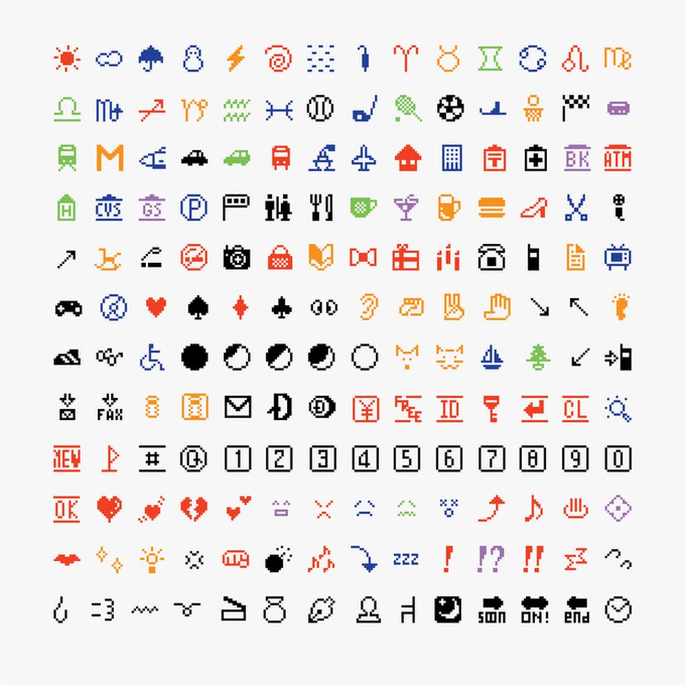 Pacote com primeiros emojis foi criado em 1999 — Foto: Reprodução/Kickstarter