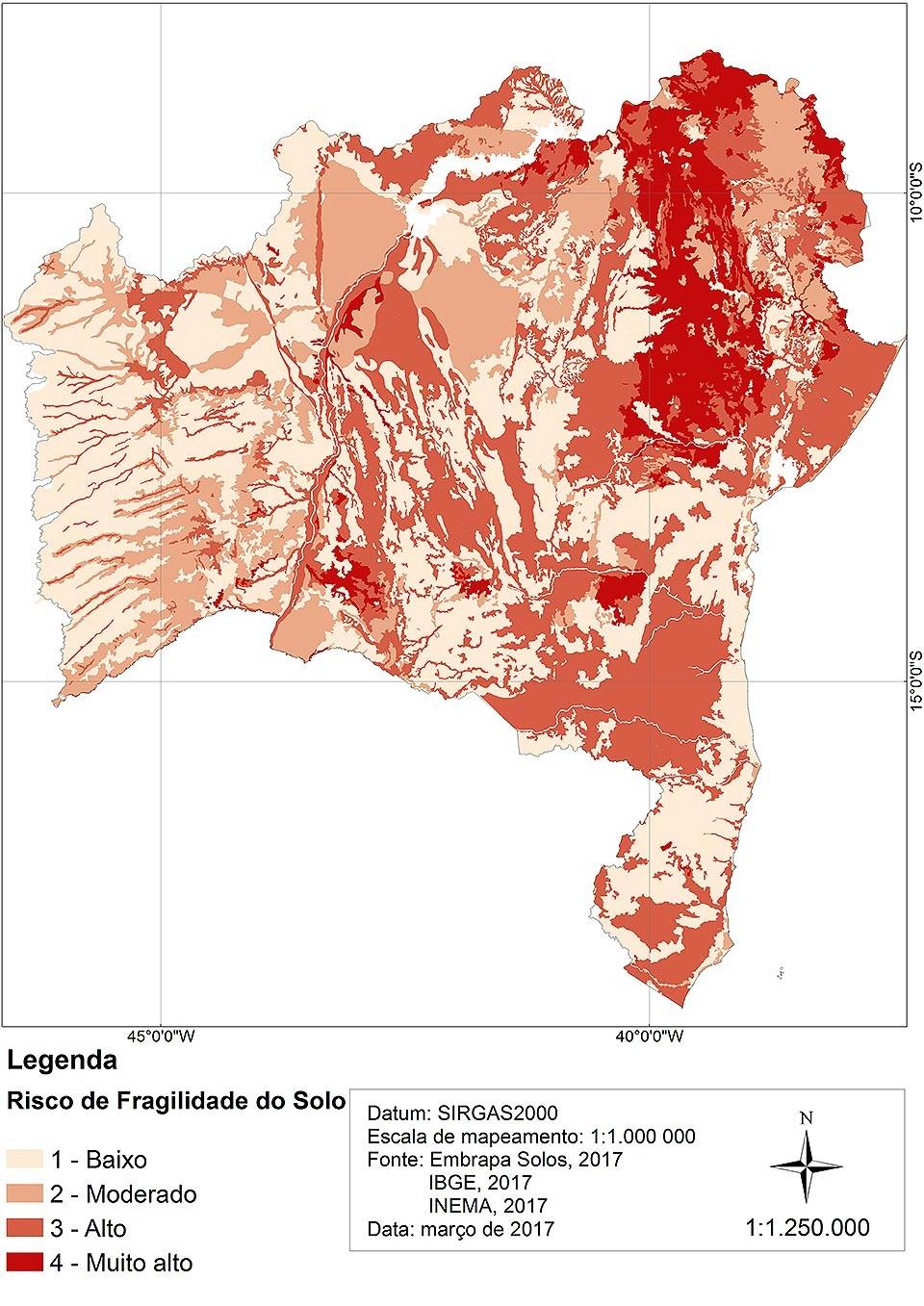 Maior parte do território baiano apresenta solo degradado.  (Foto: Divulgação / Unifesp)