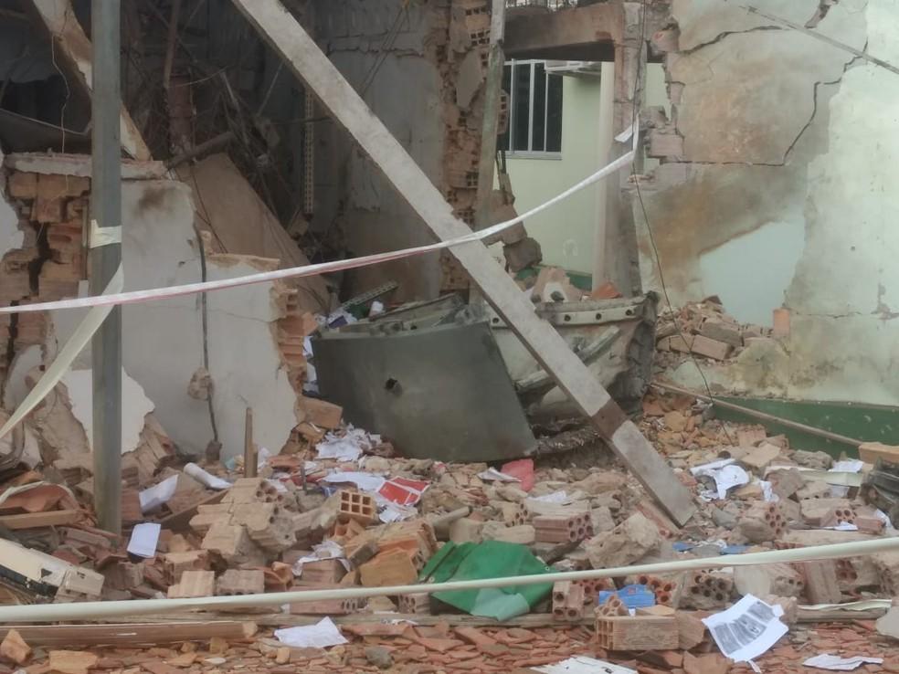 Cofre principal foi destruído durante ação criminosa em Nova Olinda do Maranhão  — Foto: Cícero Ferraz