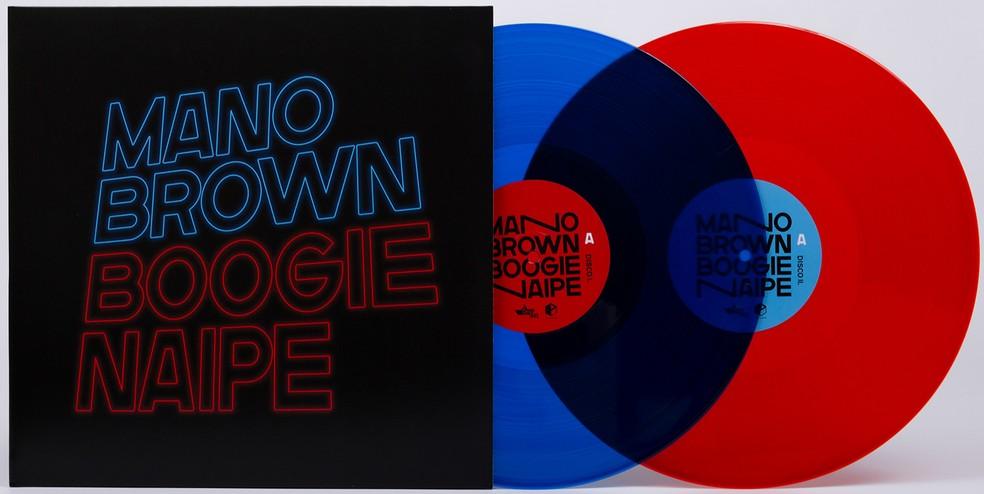 Capa da edição em LP de 'Boogie Naipe', álbum de Mano Brown (Foto: Divulgação / Selo EAEO Records)
