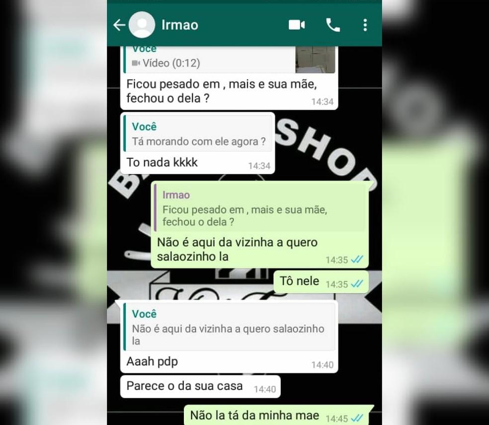 Vinícius trocou mensagens com o amigo momentos antes de saber da morte, em Jundiaí (SP) — Foto: Arquivo Pessoal
