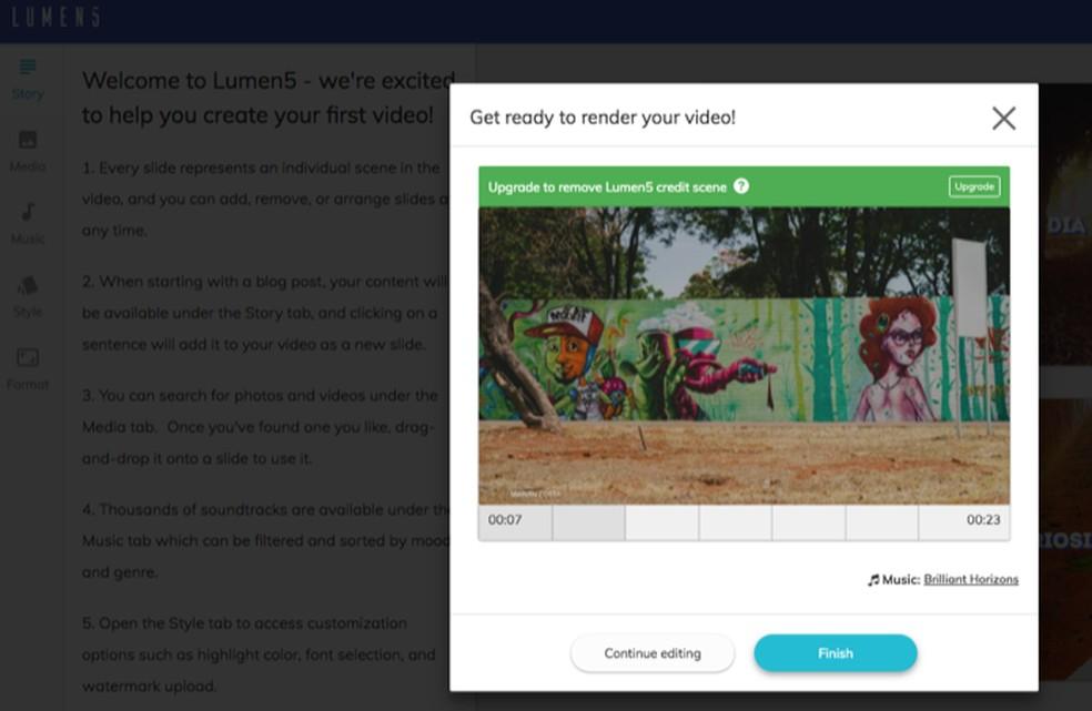 a1d034a7d3 ... Tutorial mostra como usar o serviço online Lumen5 para criar vídeos  animados com fotos do computador