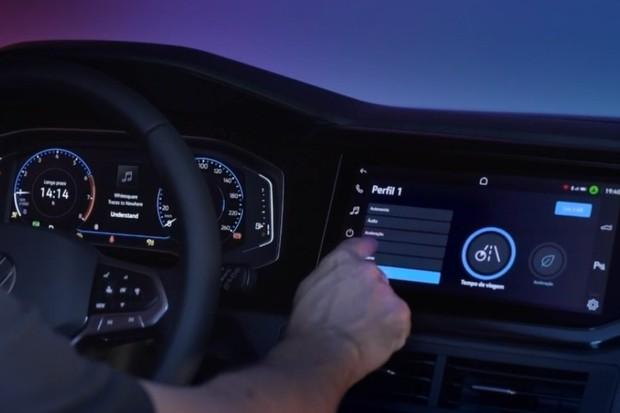 Apresentação do sistema VolksPlay, disponível no VW Nivus (Foto: Divulgação)