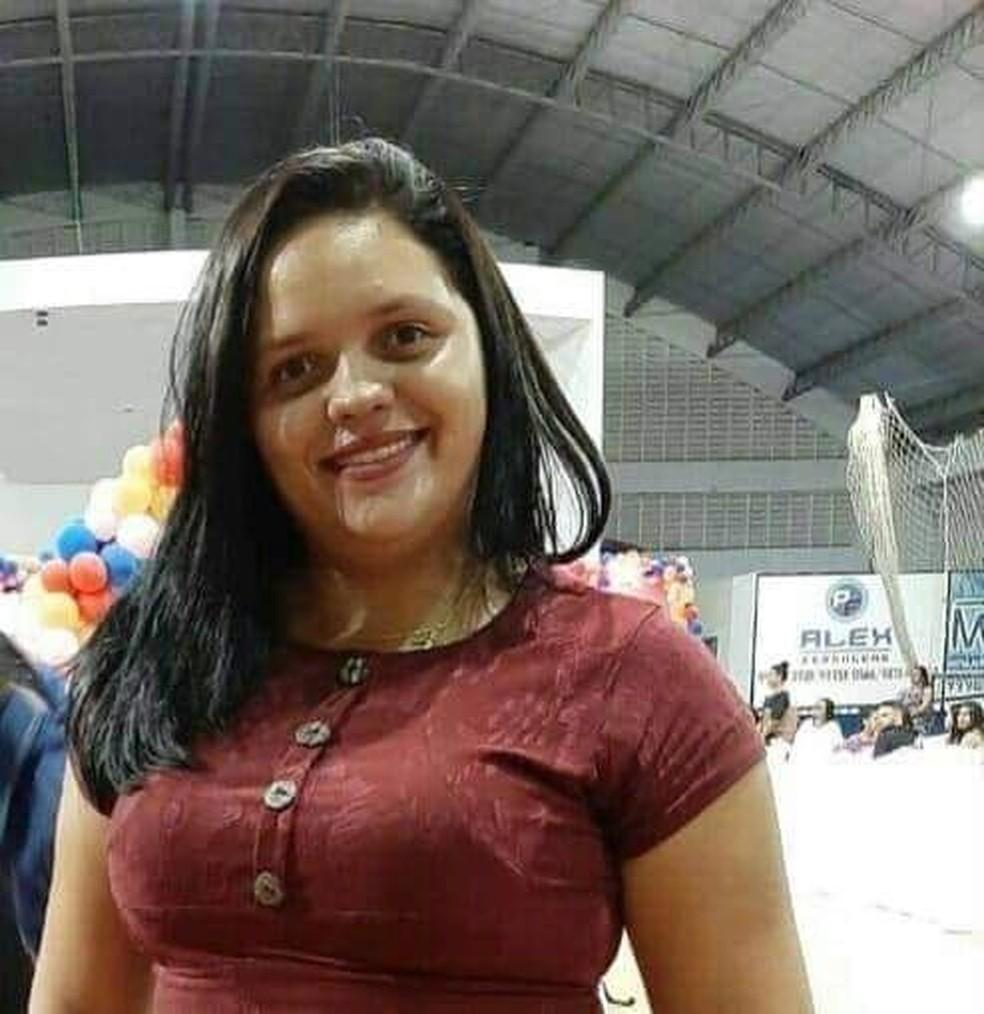 Adriele Fernandes da Silva, de 23 anos, foi morta a pauladas em Parelhas, no interior do RN — Foto: Reprodução/Inter TV Costa Branca