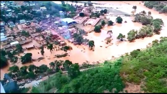Prefeito de Rio Casca conta que ficou seis horas em cima de telhado para fugir de inundação