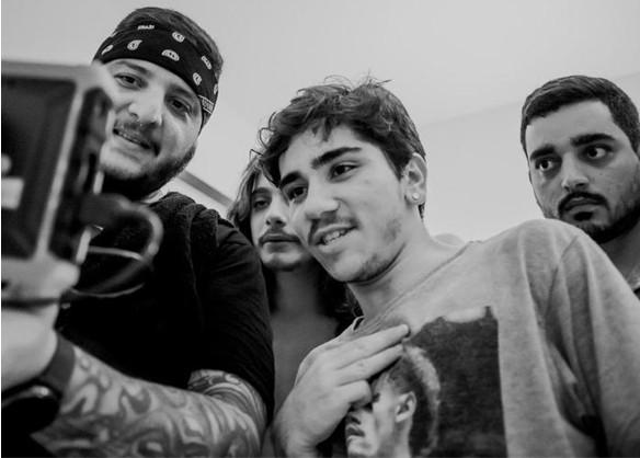 João Fernandes com Cadu Libonati, Bruno Castro e Raoni Melo (Foto: Arquivo pessoal)