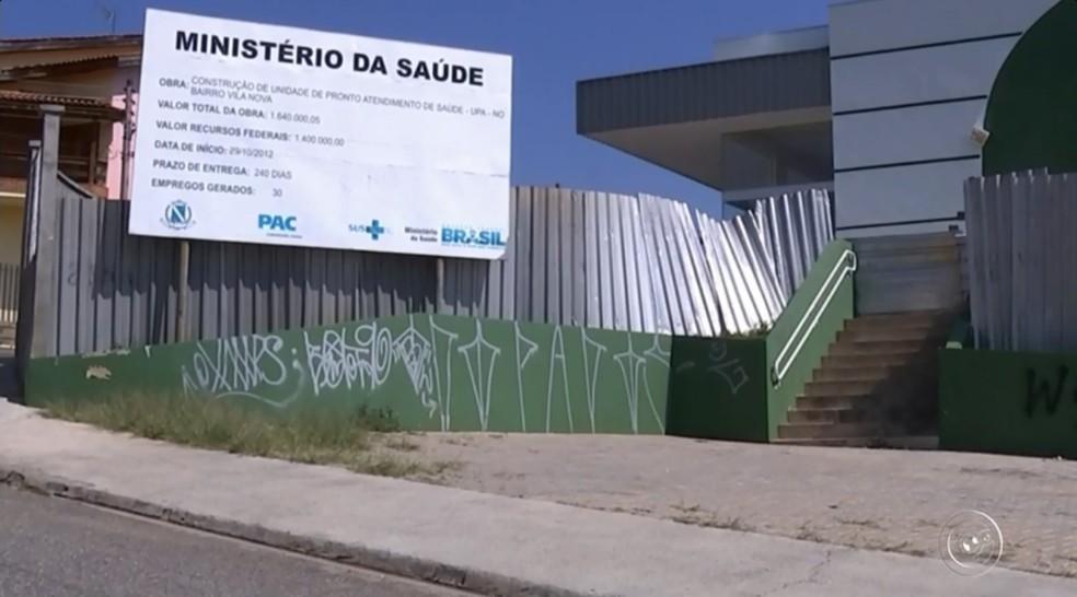UPA da Vila Nova deveria ter ficado pronta em julho de 2013 — Foto: Reprodução/TV TEM